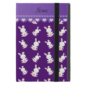 Personalized name purple white bunnies case for iPad mini