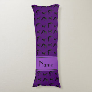 Personalized name purple wrestling silhouettes body pillow