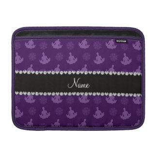Personalized name purple yoga pattern MacBook air sleeve