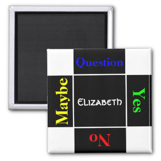 Personalized Name Question Magnet