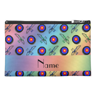 Personalized name rainbow archery travel accessory bags