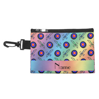 Personalized name rainbow archery accessory bag