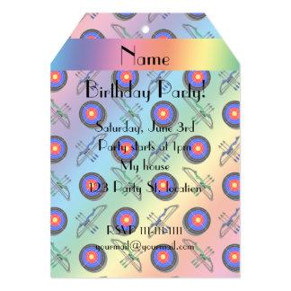 Personalized name rainbow archery card