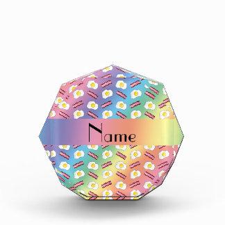 Personalized name rainbow bacon eggs awards