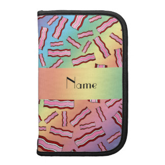 Personalized name rainbow bacon pattern planners