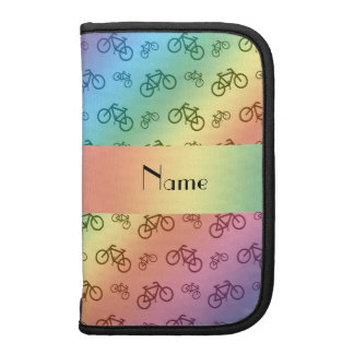 Personalized name rainbow bicycle pattern planner