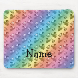 Personalized name rainbow birthday pattern mouse pad