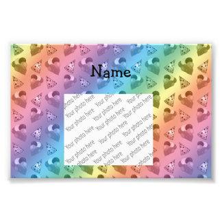 Personalized name rainbow birthday pattern art photo