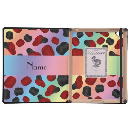 Personalized name rainbow checkers game iPad case