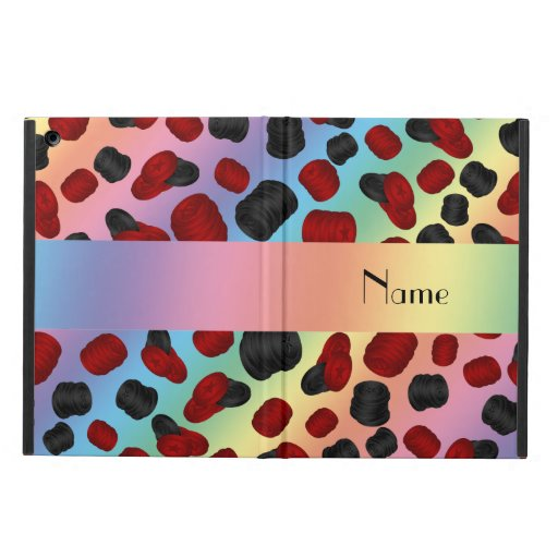 Personalized name rainbow checkers game cover for iPad air