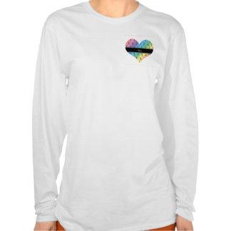 Personalized name rainbow cheerleader pattern t-shirt