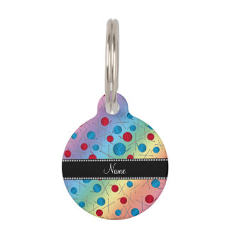 Personalized name rainbow crochet pattern pet tag