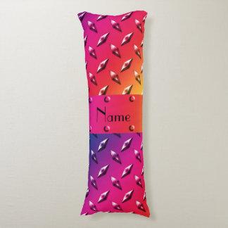 Personalized name rainbow diamond steel plate body pillow