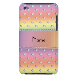 Personalized name rainbow diamonds iPod touch Case-Mate case