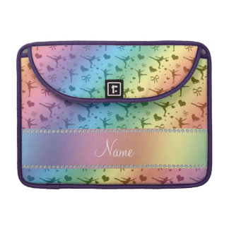 Personalized name rainbow figure skating MacBook pro sleeves