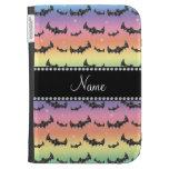 Personalized name rainbow glitter bats kindle 3G case