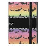 Personalized name rainbow glitter bats iPad mini cases