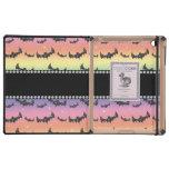 Personalized name rainbow glitter bats iPad case