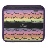 Personalized name rainbow glitter bats sleeve for iPads
