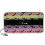 Personalized name rainbow glitter bats iPod speaker