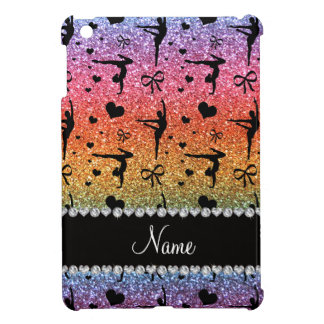 Personalized name rainbow glitter gymnastics case for the iPad mini