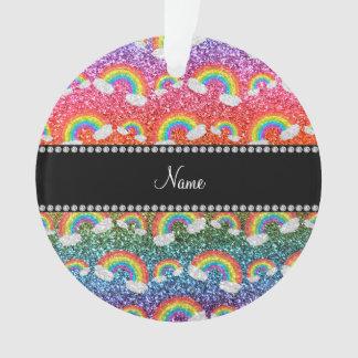 Personalized name rainbow glitter rainbows