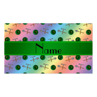 Personalized name rainbow gold mining Double-Sided standard business cards (Pack of 100)