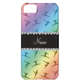 Personalized name rainbow gymnastics pattern iPhone 5C case