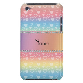 Personalized name rainbow hearts iPod touch covers