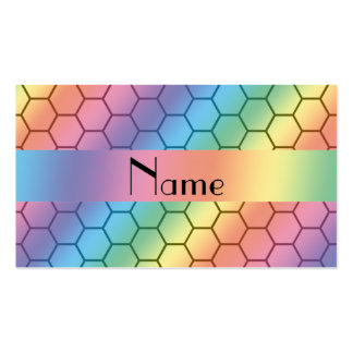Personalized name rainbow honeycomb Double-Sided standard business cards (Pack of 100)