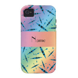 Personalized name rainbow kayaks vibe iPhone 4 covers