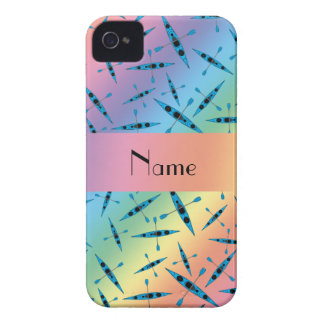 Personalized name rainbow kayaks iPhone 4 cover