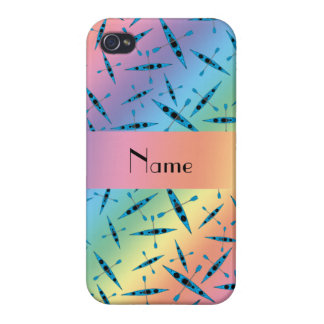 Personalized name rainbow kayaks iPhone 4/4S cover