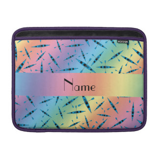 Personalized name rainbow kayaks MacBook sleeve