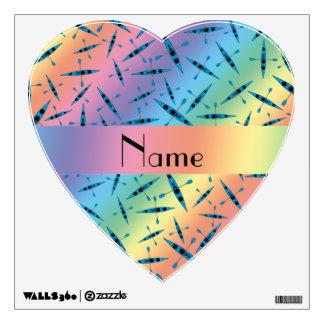 Personalized name rainbow kayaks wall decor