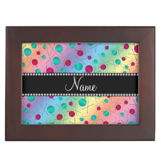 Personalized name rainbow knitting pattern memory box