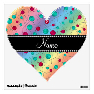Personalized name rainbow knitting pattern room decal