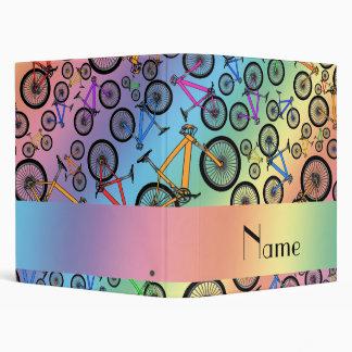 Personalized name rainbow mountain bikes binders