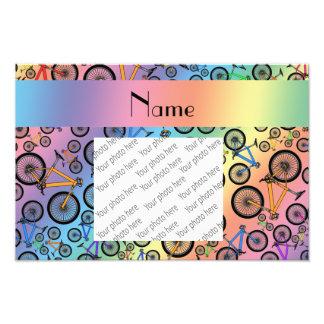Personalized name rainbow mountain bikes photograph