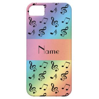 Personalized name rainbow music notes iPhone 5 cases