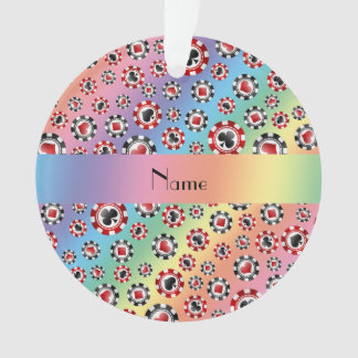 Personalized name rainbow poker chips