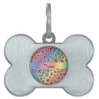 Personalized name rainbow poker chips pet tags