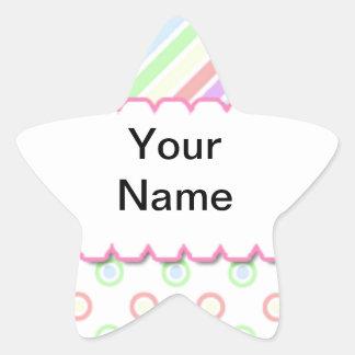 Personalized Name rainbow Star Sticker