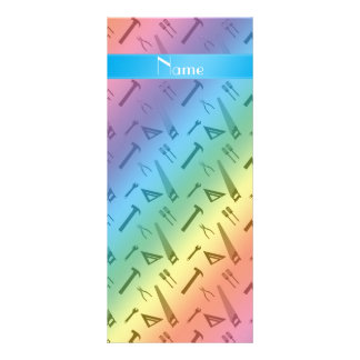 Personalized name rainbow tools pattern custom rack cards