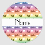 Personalized name rainbow train pattern stickers