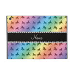 Personalized name rainbow unicorn pattern covers for iPad mini