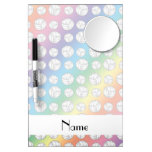 Personalized name rainbow volleyball balls dry erase board with mirror