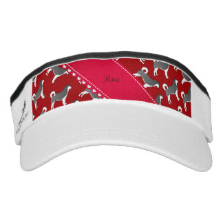 Personalized name red alaskan malamute dogs headsweats visor