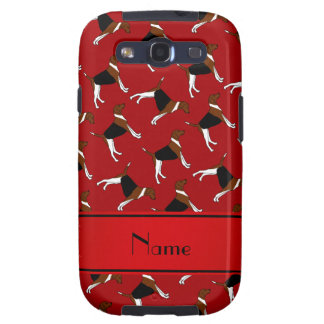 Personalized name red american foxhound dogs galaxy SIII cases