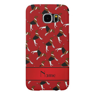Personalized name red american foxhound dogs samsung galaxy s6 cases